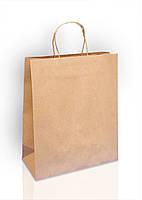 Пакет из бурого крафт-картона 270х325х120