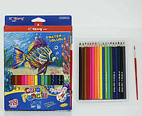 Коробка цветных карандашей 18 шт