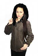 Удлиненная женская дубленка с капюшоном (наличие - уточняйте!), фото 1