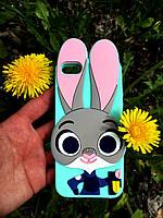Силиконовый чехол Джуди Хоппс iPhone 4S/4