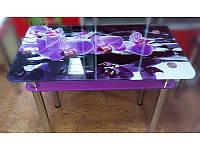 Стол стеклянный обеденный, столы из стекла