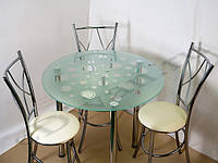 Кухонный стол стеклянная столешница