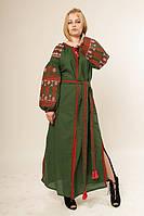 Оригинальное длинное вышитое платье