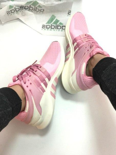 Кроссовки женские Adidas Equipment Pink розовые топ реплика