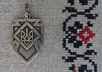 Кулон «Тризуб», УПА, посріблений