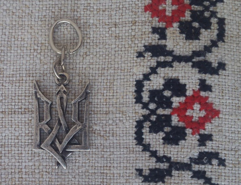 Кулон «Тризуб», готичний, ЦАМ, метал, посріблений
