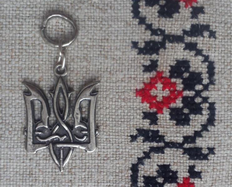 Кулон «Тризуб, Сокіл»,  ЦАМ, посріблений