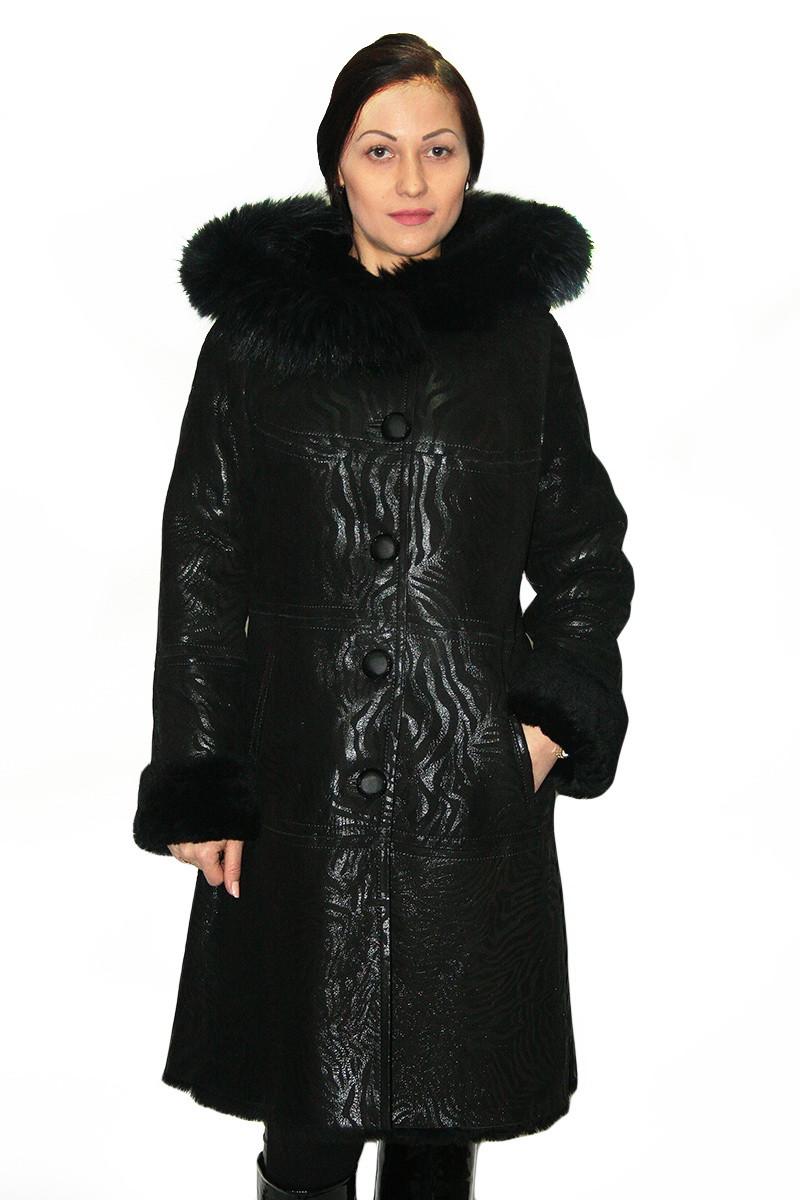 Дубленка  женская Oscar Fur   378 Черный