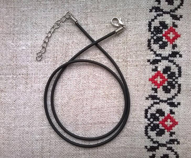 Шнурок Натільний, Каучук, 50 см, товщиною 0,15 см., натуральний, для прикрас і кулонів