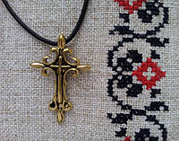 Амулет Сили ,Лютивий Хрест - сила Волі, В комплекті шкіряний шнурок 45 см, бронза, метал