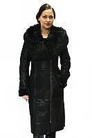 Длинная женская дубленка, фото 1