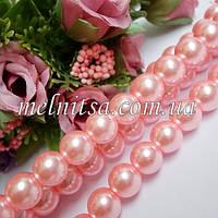Жемчуг керамический, 10 мм, розовый (5 шт)