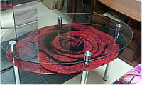Обеденный гарнитур, стол стеклянный