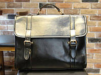 Стильный мужской портфель с ручкой. Размер 38-29-12 см