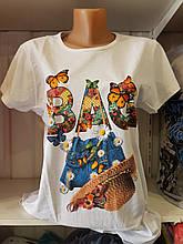 Женская футболка хлопок, Турецкий трикотаж