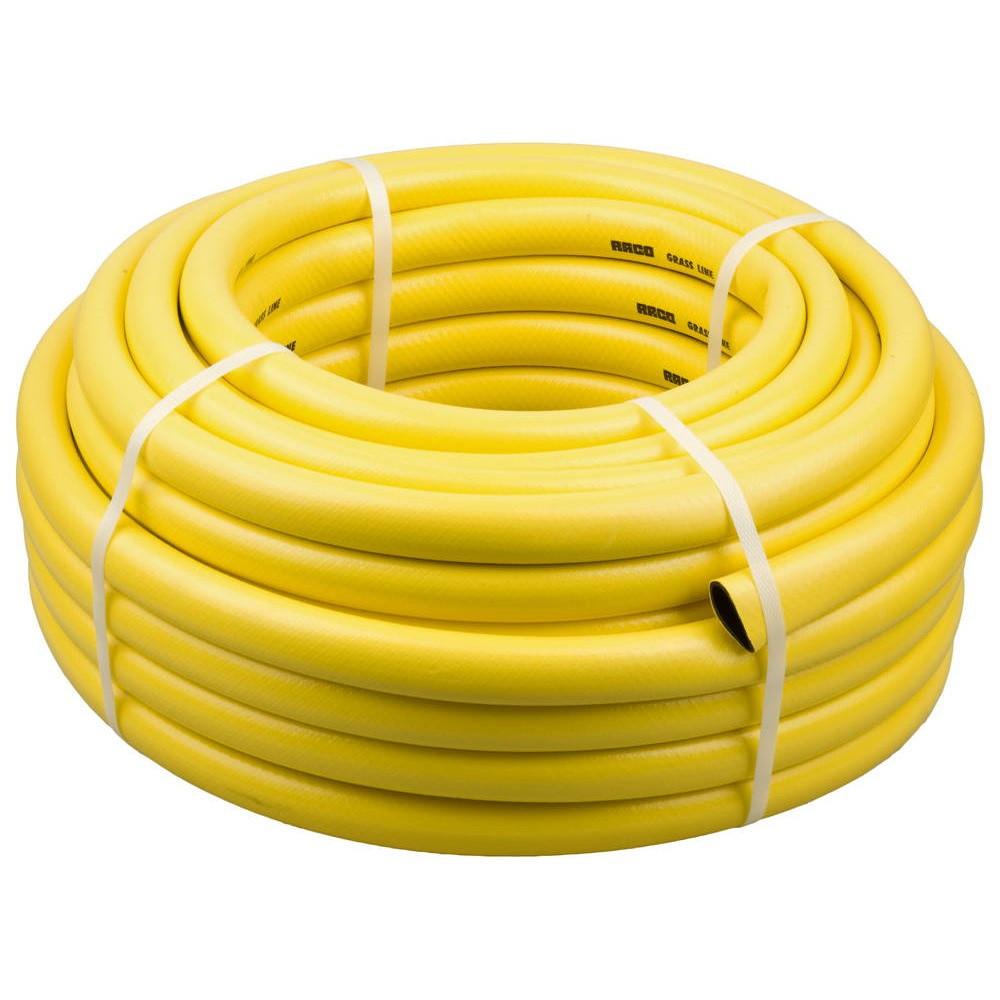 """Шланг для воды 3-х слойный 3/4"""", 10м, армированный WAZ (желтый)"""