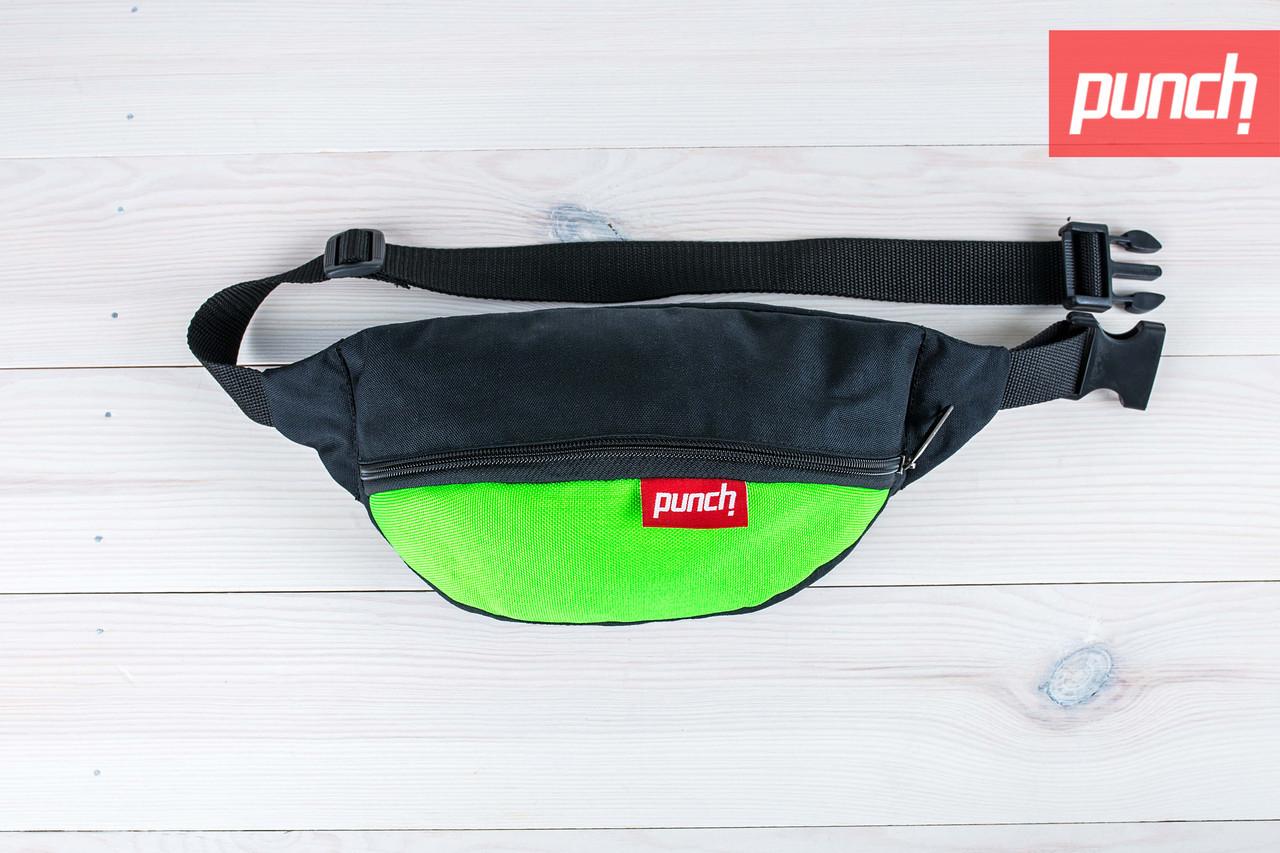Поясная сумка Black Acid Green Punch