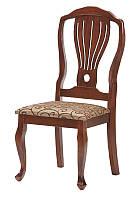 Деревянный стул Тиамо с мягким сиденьем каштан каркас, ткань Дамаст