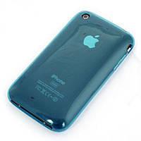Силиконовый чехол iPnone 3G синий