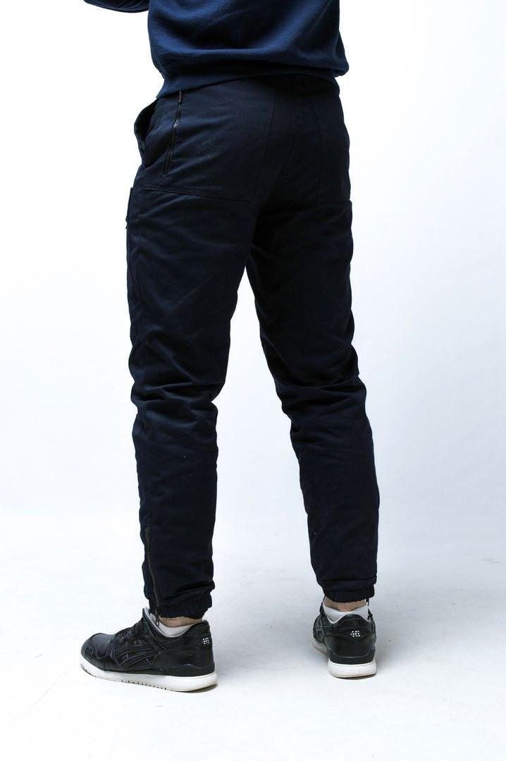 Зимние штаны карго Thor темно синие