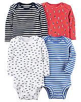 Комплект бодиков для мальчика Carters Морские, Размер 24м, Размер 24м