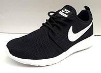 Кроссовки мужские Nike Roshe Run черные, синие NI0008