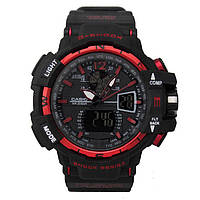 Спортивные часы Casio G-Shock GW-A1100 Black Red(реплика)