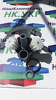 Редуктор на 2 шестерни для мясорубки Bosch 611988, 170009  с пластиковым штоком