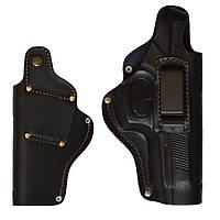 Кобура поясная для Beretta 92, кожаная формованная со скобой