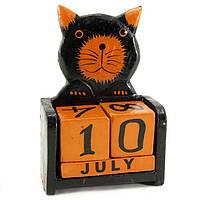 Календарь в детскую Котик