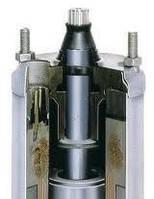 """4"""" однофазный погружной мотор 1,5кВт для скважинного насоса тип PSC(внешний конденсатор)"""