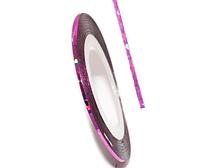 Самоклеящаяся лента для дизайна ногтей BZH-02C-22  (0.8 мм) Цвет: Laser pink
