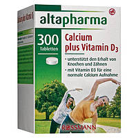 Altapharma Calcium-Tabletten plus Vitamin D3 - Кальций + витамин D3 в таблетках, 300 табл., 253 г