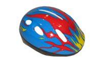 Велошлем детский  (PU, пластик, PVC, р-р 3/7лет регул, синий, красный, розовый, черный)