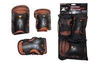 Защита спортивная наколенники, налокотники, перчатки JASON PE9021F (р-р S/M,L/XL, оранжевая)
