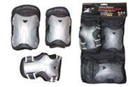 Защита спортивная наколенники, налокотники, перчатки JASON PE9021G (р-р S-M,L-XL, черная)