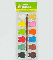 Краски акварельные палитра 12 цветов
