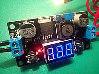 Понижающий преобразователь + вольтметр LM2596 2А DC-DC 1.2-36V, фото 1