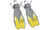 Ласты детские с открытой пяткой (пяточный ремень) ZEL ZP-446 (р-р L-XL*32-37, S-MD-27-31, жёлтый, синий, черны