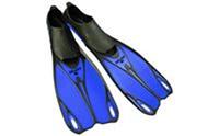 Ласты с закрытой пяткой (калоша цельная) ZEL ZP-436 (р-р L-42-43,M-38-39, ML-40-41,  XL-44-45 жёлтый, синий, серый)