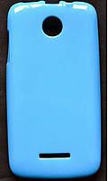 Cиликоновый чехол Lenovo A390 A376 синий