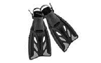 Ласты с открытой пяткой (пяточный ремень) ZEL ZP-441 (р-р L-XL-42-45, S-M-38-41, жёлтый, синий, чёрный)