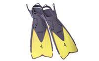 Ласты с открытой пяткой (пяточный ремень) ZEL ZP-450 (р-р L-XL-32-37, S-MD-27-31, жёлтый, синий, черный)