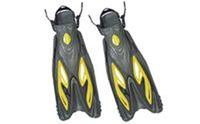 Ласты с открытой пяткой (пяточный ремень) ZEL ZP-453 (р-р L-XL-42-45, S-M-38-41, жёлтый, синий, красный)