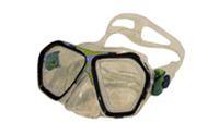 Маска для плавания ZEL ZP-294TPP (термостекло, PVC, пластик, желтый, зеленый, синий, красный)