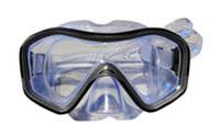 Маска для плавания ZEL ZP-296TPP (термостекло, PVC, пластик, желтый, черный, синий, красный)