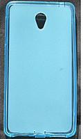 Cиликоновый чехол Lenovo S860 синий