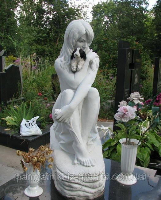 Скульптура девушки из мрамора № 5