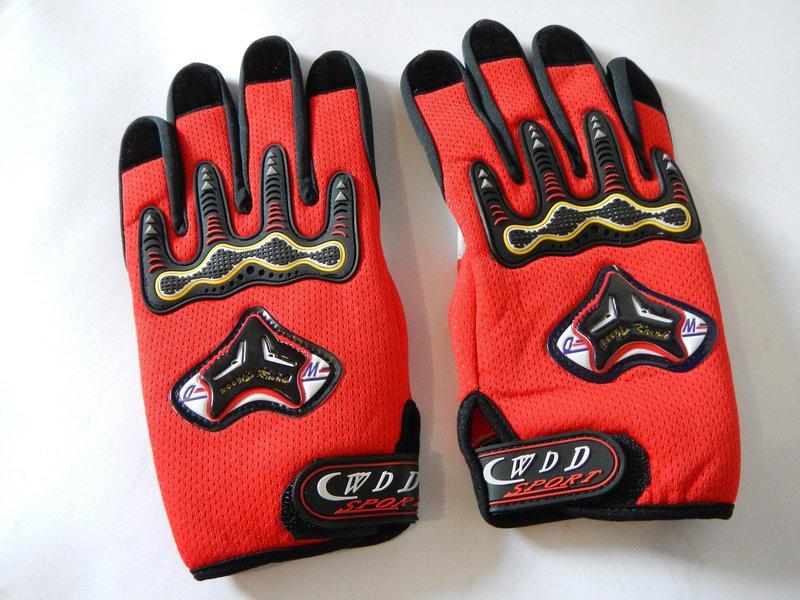 Мотоперчатки YM-128 красные
