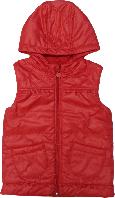 Жилетка демисезонная с капюшоном ТМ Bembi ЖЛ20 для девочки коралловый размер 104